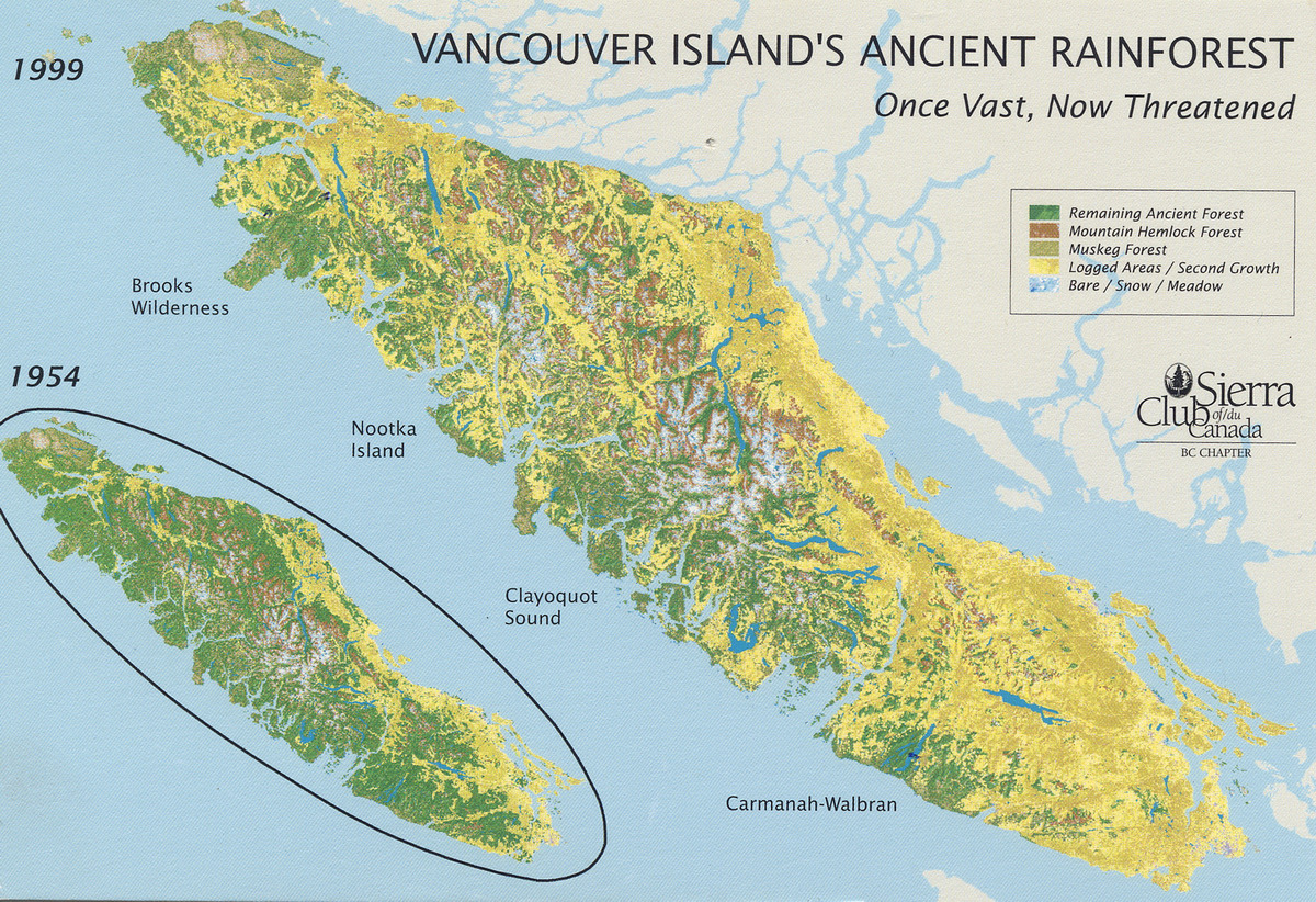 Cathedral Grove British Columbia Linking Two Biospheres - Us west coast vancouver island map