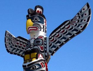 Thunderbird Bird Totem Pole - photo#27